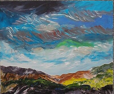 Original Contemporary Landscape Painting On Canvas Board With Free Postage • 30£