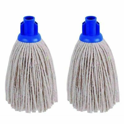 £4.99 • Buy High Quality Floor Cotton Mop Head Screw Push Socket Colour Coded Long Lasting