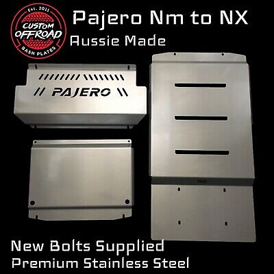 AU500 • Buy Pajero NM-NX - 3mm Stainless Steel 3pce Radiator Sump Trans Bash Plate Set