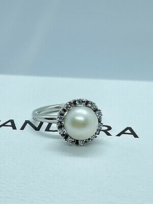 Pandora Pearl Ring Size 48 Authentic Rare Retired Ring Sterling Silver S925 ALE • 16.99£