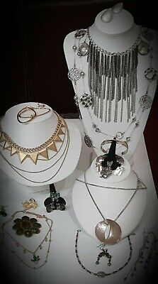 $ CDN24.95 • Buy 💥Vintage Designer~Mixed Jewelry Lot Earrings~Necklaces~Cuff~STUNNING!S.signed💥