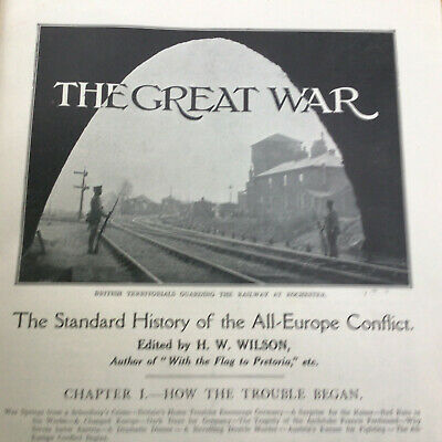 £25.99 • Buy The Great War H.W. Wilson Volumes.1 To 8