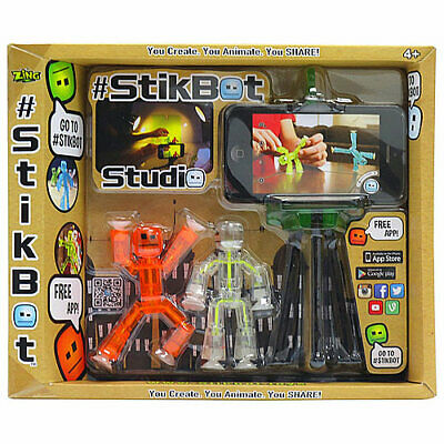 Stikbot Studio With Two Figures - Stop Motion Animation App Toy • 13.37£