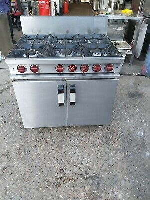 £680 • Buy Moorwood Commercial 6 Burners Cooker With Oven Natural Gas Heavy Duty Used