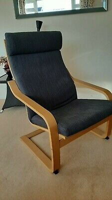 POÄNG Armchair, Oak Veneer/Hillared Anthracite • 20£