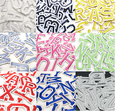 £0.99 • Buy Letter Patches Embroidered Patch Letters Iron On Sew On Alphabet Clothes Crafts