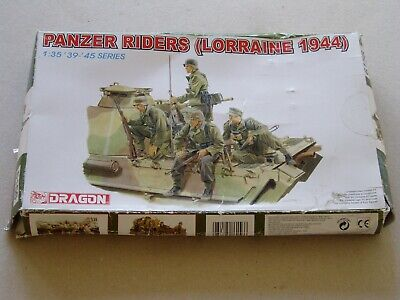 Dragon 1:35 Military Figures 6156: Panzer Riders (Lorraine 1944) • 9.51£