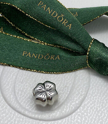 AU19.50 • Buy Pandora Sterling Silver Lucky Four Leaf Clover Charm 790157 Authentic Ale
