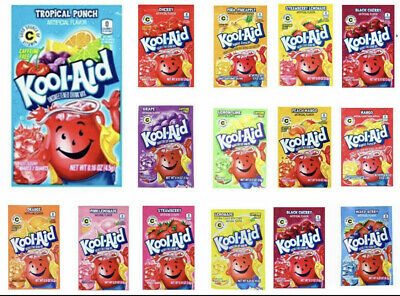 Kool Aid American Powder Mix Drink Single Sachets Packets Made In USA UK STOCK • 4.60£