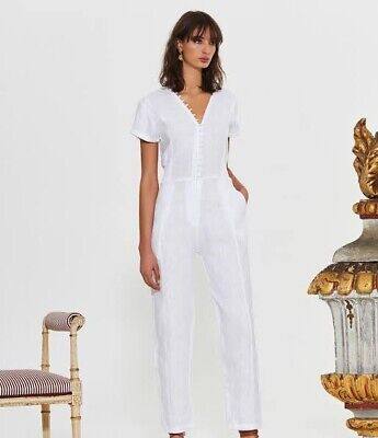 AU90 • Buy SIR The Label Inaya Linen Jumpsuit Size 0 White