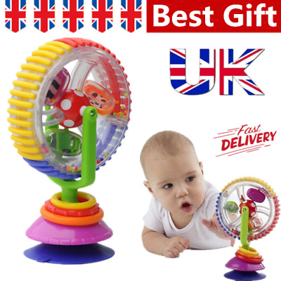 Rainbow Ferris Wheel Baby Toddler Toy Rattle Clanking Suction High Chair Toy • 6.99£