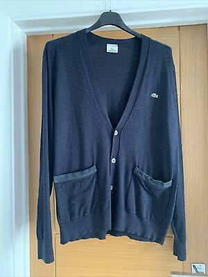Lacoste Mens Button Cardigan Jumper Top. Navy Blue. Size 6. RP£115 • 19.99£