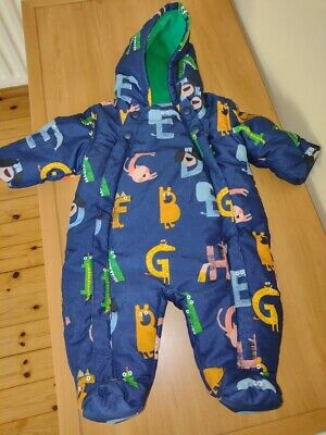 Marks And Spencer Navy Baby Boy Pramsuit, 0-3 Months • 6.50£