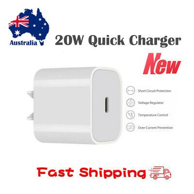 AU11.99 • Buy 20W Quick Fast Charger Plug USB-C PD Power Adapter For IPhone 12 Mini Pro Max AU