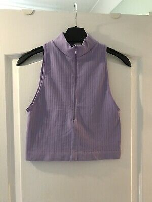 AU5.41 • Buy Urban Outfitters Lilac Cropped Top