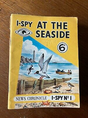 Rare 1950s Vintage News Chronicle I-Spy At The Seaside 6d. Book No.1. • 1.50£