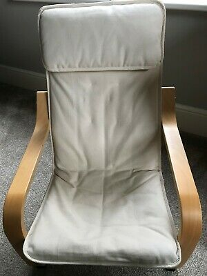 Childs Ikea Poang Chair In Cream • 10£