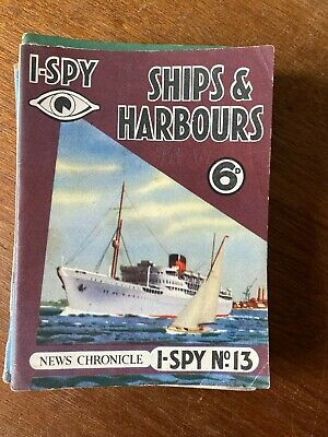 Rare 1950s Vintage News Chronicle I-Spy Ships And Harbours 6d. Book No.13. • 1.50£