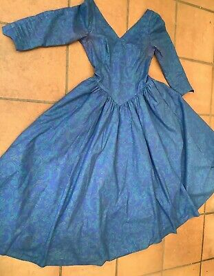 Laura Ashley. Vintage Cotton Dress /gown/summer Frock 1980's Full Skirt & Nets • 13.50£