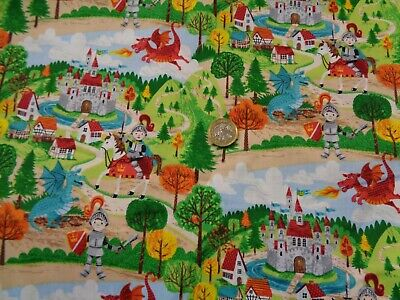 £9.90 • Buy Makower Dragonheart Scenic Dragons   100%  Cotton Quilting/craft Bolt END 70cms