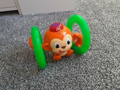 Bright Starts Roll And Glow Monkey With Lights And Sound Baby Toy • 5£