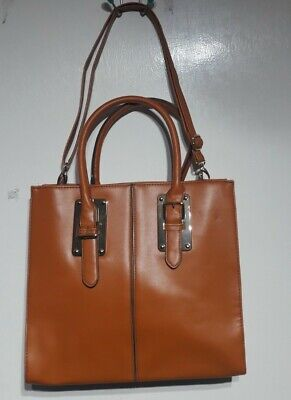 Avon Signature Collection Tan Faux Leather Hand Bag Lined With Shoulder Strap • 12.99£