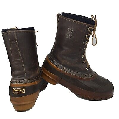 LaCrosse ICEMAN Winter Snow Boots USA Brown Leather Men Size 9 US • 39.79£