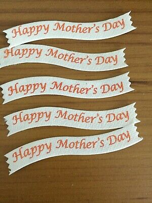 £1.50 • Buy 5 HAPPY MOTHERS DAY. ,2cm 9 Cm. Die Cut Card Topper Embellishments