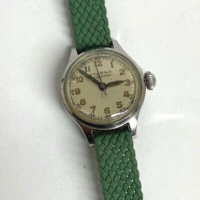Vintage ETERNA Wind Watch WORKING Waterproof Stainless Steel SWISS Women's  • 54.27£