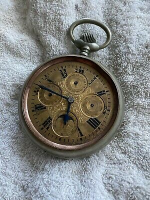 £212.95 • Buy Antique  Goliath  Pocket Watch Moon Phase