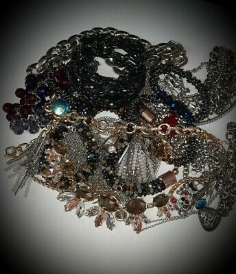$ CDN24.95 • Buy Vintage Designer~BLING! Mixed Jewelry Lot  Bracelets,Earrings~Necklaces,S/signed