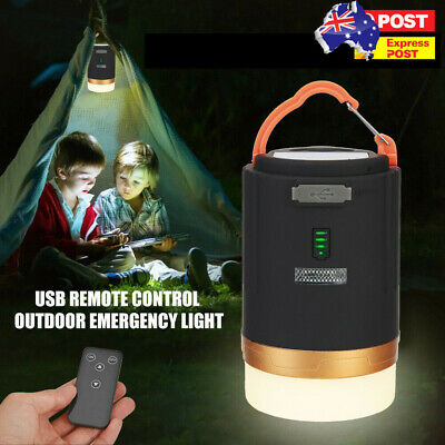 AU21.99 • Buy Rechargeable LED Camping Light Tent Portable Lantern Night Lamp Phone Charger