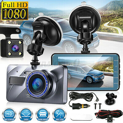 AU37.63 • Buy 1080P Front And Rear Dual Lens Cam Car Dash Camera 4in Video DVR Recorder 170°