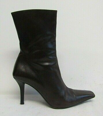 Gucci Womens Ankle Boots Size Uk 4 Usa 6 Brown Leather Narrow Fit (b)  • 99.99£