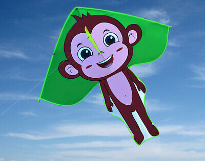 AU14.99 • Buy Free Shipping Monkey Kite Delta Outdoor Fun Sports Toys Single Line For Kids NEW