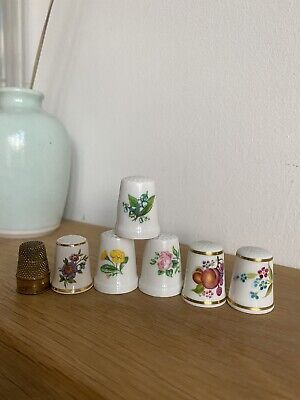 £3.50 • Buy 7 X Vintage China Thimbles Inc Worcester & Masons & One Metal