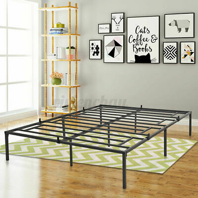 $ CDN138.45 • Buy Queen Full Size Steel Bed Frame - Heavy Duty Metal Platform Beds - Height 16