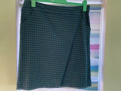 WHITE STUFF Teal Blue Green Spot Polka Dot Skirt UK 12 • 11£