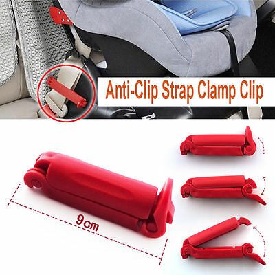 Child Car Seat Baby Auto Safety Kits Belt Fitted Non Anti-Clip Strap Clamp HW8P • 2.13£