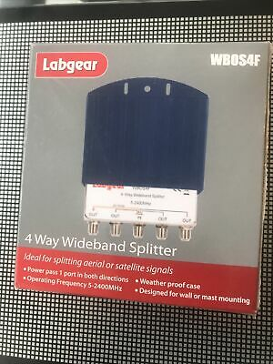 Labgear 4 Way Wideband Splitter • 4.50£