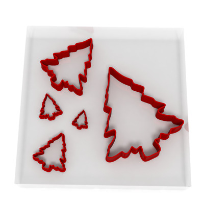 £6.99 • Buy Set Of 5 Christmas Tree Cutters Fondant Cookie Icing Polymer Clay Craft Sharp 6