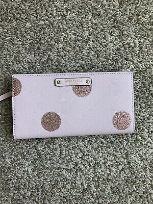 $ CDN89 • Buy Kate Spade Polka Dot Stacy Wallet Pink Glitter