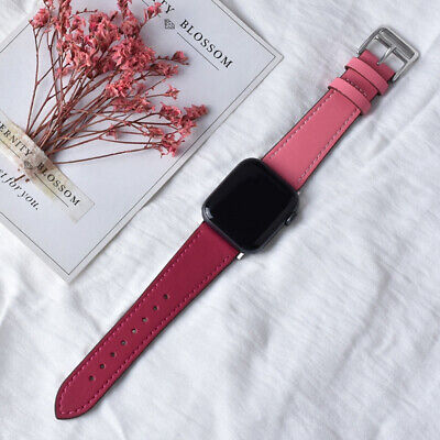 $ CDN2.31 • Buy Leather Apple Watch Band For IWatch Series SE 6 5 4 3 2 1 38mm 40mm 42mm 44mm