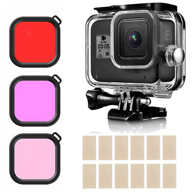 Camera Accessories Kit For GoPro  8 Underwater Diving Housing Shell Filter • 8.53£
