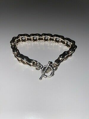 Men's Big Chunky Stainless Steel Biker Chain Bracelet • 20£
