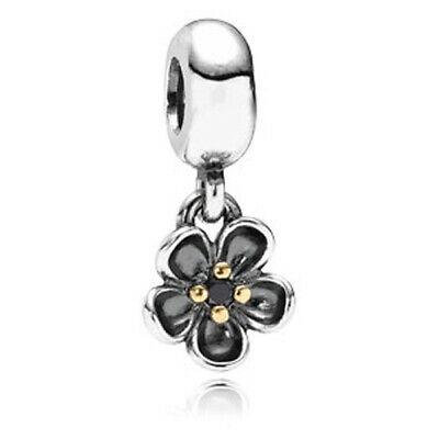 AU22.84 • Buy Pandora Sterling Silver & 14k Forever Bloom Dangle Charm #790951SPB