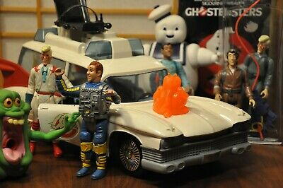 Vintage Real Ghostbusters Toys Lot Ecto-1 Complete X7 Action Figures Kenner 80s • 130.21£