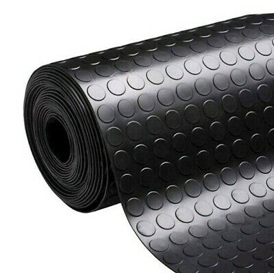 £18.99 • Buy Stud/Penny Coin Rubber Roll Mats Flooring Matting For Garages, Gym, Vans & Cars