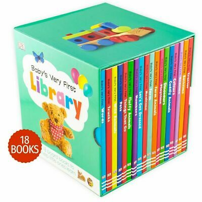 £19.91 • Buy Baby's Very First Library 18 Board Books Children Collection Box Set Pack