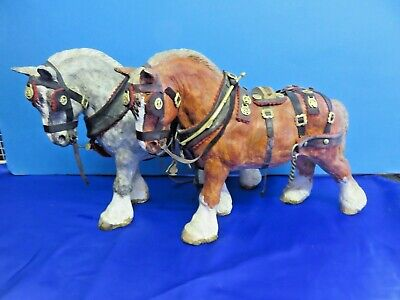 Two Shire Horses In  Harness • 19.99£